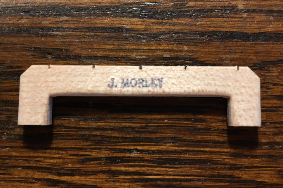 Joe Morley Pattern Banjo Bridge